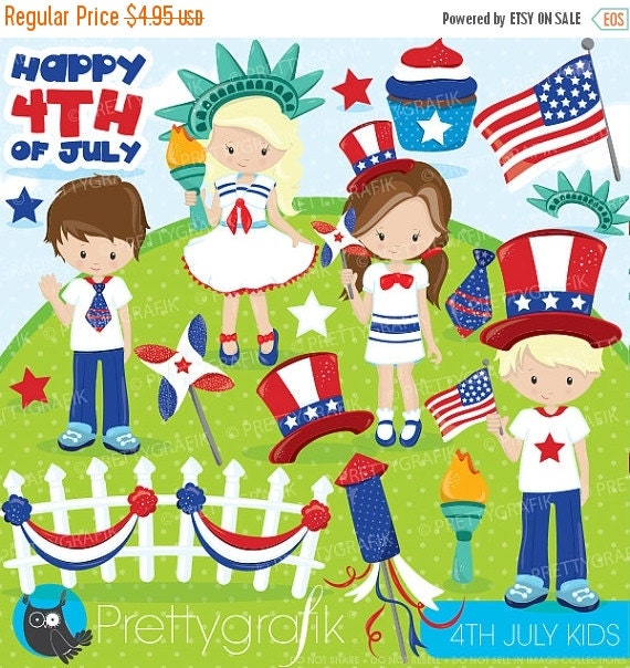 80 off sale independence day kids clipart by prettygrafikdesign - Children s day images download ...