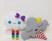 Cloud Toys, Nursery Decor, Cloud Room, Baby Toy, Baby Shower Gift