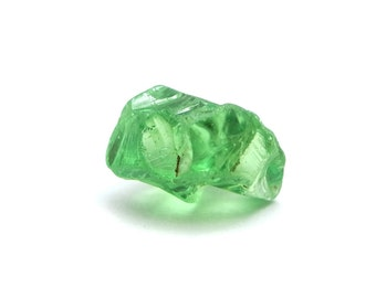 Tsavorite 2.47 carat facet rough crystal very clean Tsavorite Garnet