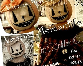 Doll Pattern - The Laughing Pumpkin Doll Pattern