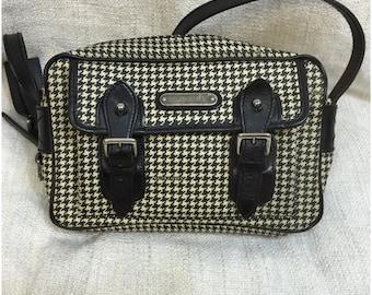 Authentic Ralph Lauren Houndstooth Crossbody Messenger Bag