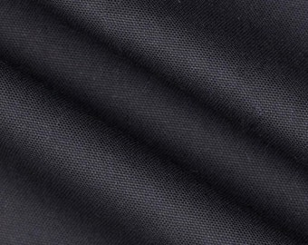 Dyed Solid Black Premier Prints Fabric - One Yard