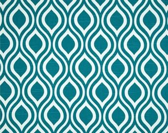 Nicole Slub Aquarius Premier Prints Fabric - One Yard - Home Dec Fabric