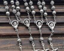 10%off weekend sale 35 pcs Decade Rosaries, Mini rosaries, First communion favors Recuerditos Bautizo / Mini Rosary Baptism Favors 35 pcs