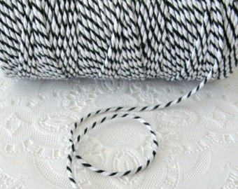100 Yard Spool Black and White Baker's Twine | Cotton Twine | Black Twine | Pretty Packaging