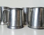 Mixed Lot of 4 Vintage Metal Mugs