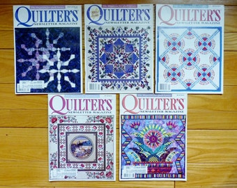 Quilter's Newsletter Magazine -  The Magazine for Quilt Lovers - January/February - June 1998 (5 issues) offered by MtnGlen