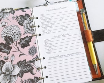 Student Schedule Planner Insert