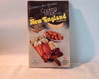 The New England Cookbook, Culinary Arts Institute, Cooking Magic, Paperback, 1975