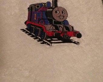 Embroidered Thomas the Train Plush Hand Towel or Bath Towel