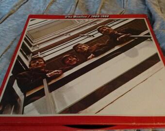 The Beatles 1962 through 1966 red Capitol Records 12 inch vinyl double LP SKBO 3403