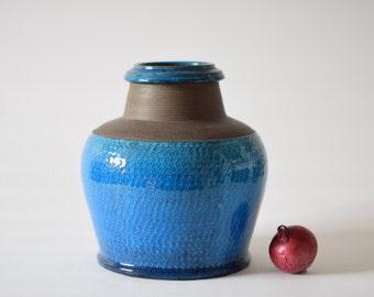 RARE & HUGE Kähler Denmark - budded vase - turquoise - Nils - HAK - Danish midcentury pottery - collectible