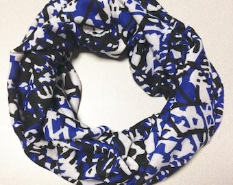 Hatchi Knit Tribal Blue Infinity Scarf