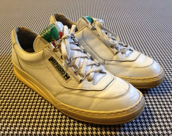 1980's, white leather, Mephisto, Runoffs, Men's size US 9.5