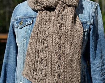 Crochet Pattern: Infinity Cable Scarf **Permission to Sell Finished Items INSTANT DOWNLOAD