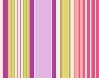 Pink, Purple, Greens, Pale Yellow Vertical Stripe (RJR2528-1) Sultan's Garden by RJR Fabrics - Yardage