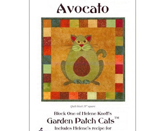"""Pattern """"Avocato"""" Applique Quilt Block Pattern by StoryQuilts (61) Paper Pattern"""
