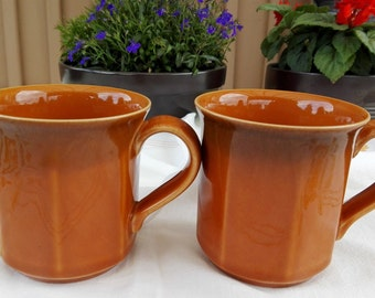 Two Vintage Mugs.Honey mugs. Hoganas Keramik. Hoganas mugs. Swedish vintage 1980.