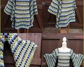 Pdf Crochet Pattern - Crochet Granny Square Pixie Dress / Tunic , Boho, Gypsy, Hippie