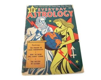Vintage Astrology Magazine, 1940's Everyday Astrology, December 1943, Vintage Horoscope Magazine, Zodiac Paper Ephemera