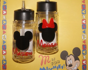 Mickey Mouse water bottles, Personalized Disney water bottles, Minnie Mouse, Toddler water bottle, 10 oz
