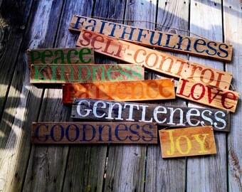 9 Sign Set - Fruit of the Spirit