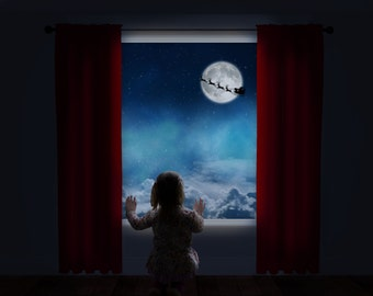 Waiting For Santa - Window Overlay Backdrop