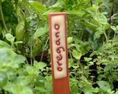 Herb Marker, Oregano, Handmade Herb Marker, Herb Stakes, Plant Markers, Garden Art, Ceramic Herb Markers, Clay Herb Marker, Plant Markers