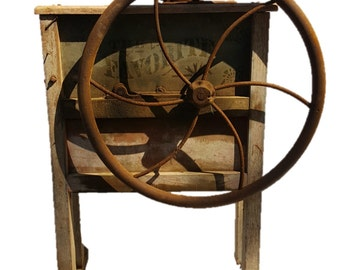 Primitive Corn Sheller The Favorite Hand Driven Wood Crank Original
