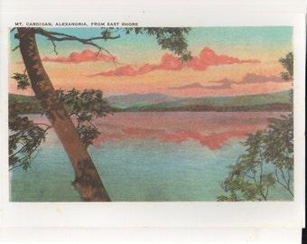 "Vintage Mt Cardigan, Alexandria-Newfound Lake,NH 8x10"" Enlargement of Post Card"