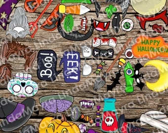 Halloween Photo booth Props DIY digital download