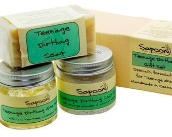 Teenage Dirtbag Gift Set. Natural Soap and Skincare. Handmade Soap. Teenage Skincare.