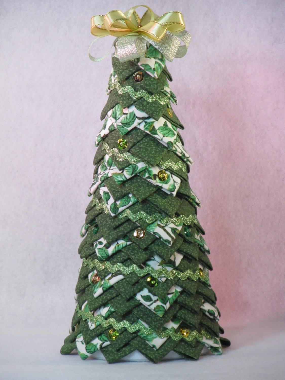 Folded fabric christmas tree -  Zoom