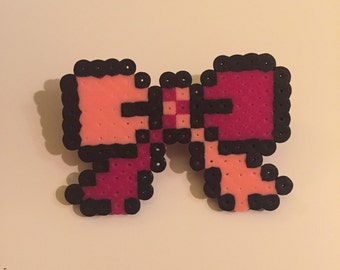 Pixel Perfect Hair Bow Barrette in pink