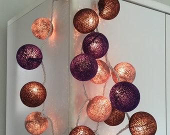 Chirtmas Cotton Ball Lights for home decoration,wedding patio,indoor string lights,bedroom fairy lights,20 Bulbs