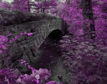 large wall art purple decor girls room wall art modern art picture large picture for room large canvas nursery wall forest art purple