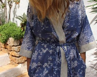 Dusk Short Kimono Dressing Gown