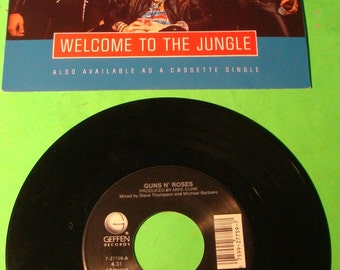 GUNS N' ROSES Welcome To The Jungle Mr. Brownstone Near Mint Mercury Jukebox Promo 45 Record With Title Strip & PS Picture Sleeve~!