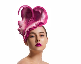 MADE TO ORDER Purple Races Hat, Floral Fascinator