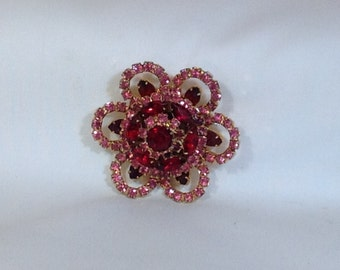 Pink and Red Brooch