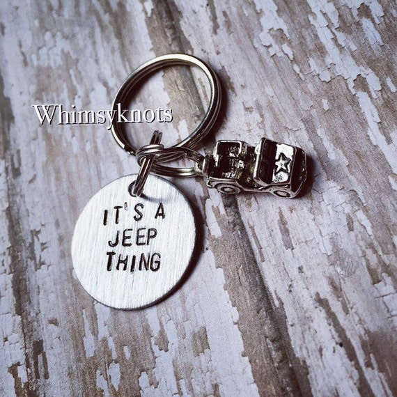 Jeep keychain-its a jeep thing: keychain/ accessories. Hand stamped.