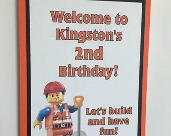 Construction Party Door Sign / Construction Birthday Door Sign / Construction worker / Construction truck Door Sign