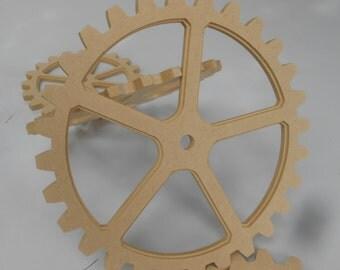 """Large Wooden Gears - 14"""" inch gear -  Huge Wood Gears -  Gear Wall - Industrial Decor -  Steampunk Decor - Steampunk ideas - sprocket pulley"""
