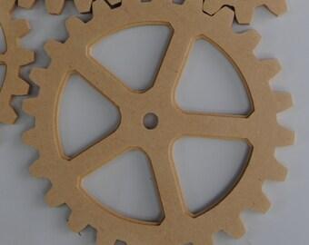"Wooden Gears - 12"" gear Modern Industrial Steampunk Dacor,   Wood Gear, Wood Cog, Wooden Gears, Sprocket, Original by Bitterroot DSign"