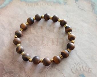 Natural Tiger eyes matte bracelet