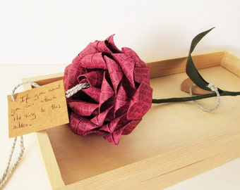 Will You Marry Me? Origami Proposal Rose