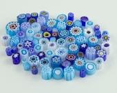 Millefiori Murrano - blue mix 70-80pieces