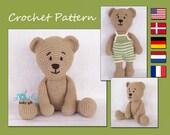 Crochet Pattern, Amigurumi, Crochet Teddy Bear Pattern, CP-129