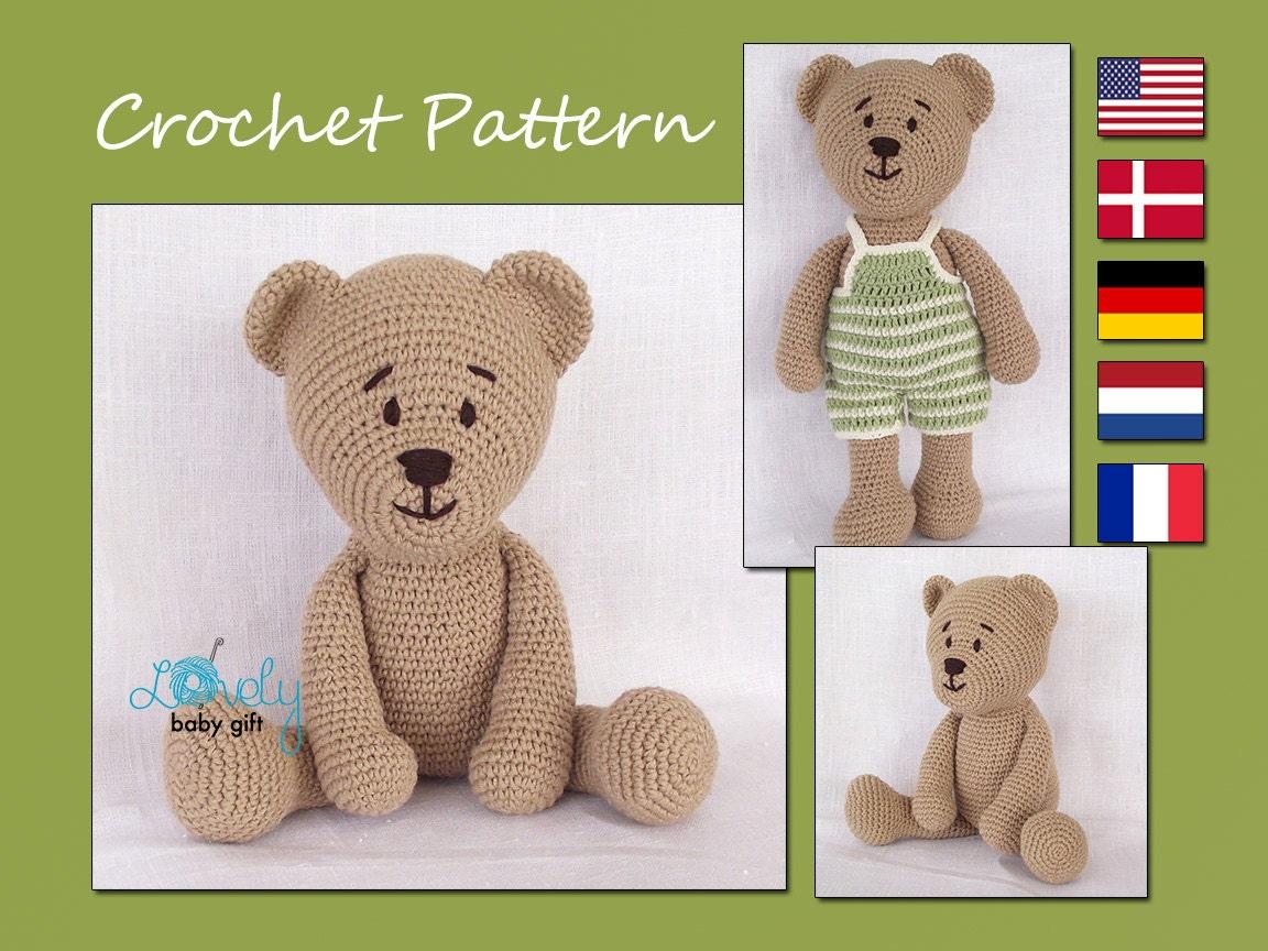 Crochet Pattern Amigurumi Crochet Teddy Bear Pattern CP-129