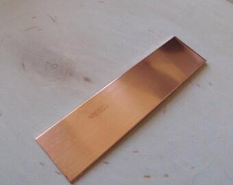 18 gauge copper strip 1 inch by 5.5 inch , bracelet blanks, copper stamping blank